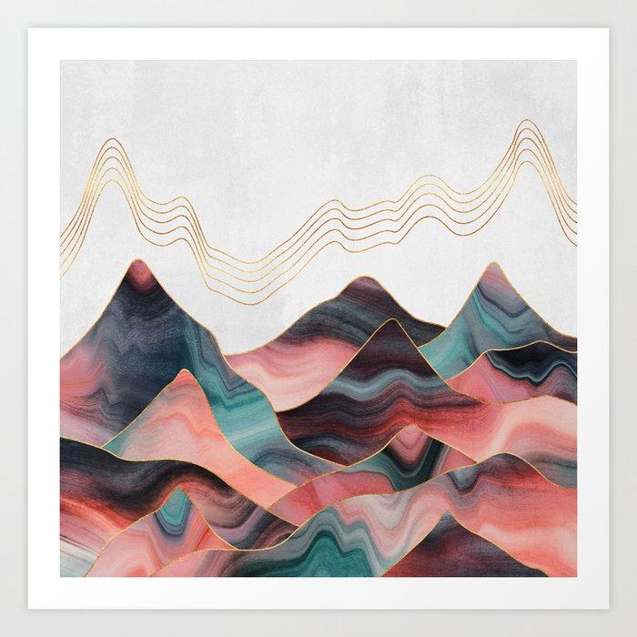 Mountainscape 2 Art Print