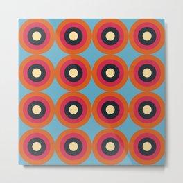 Lanai 16 - Colorful Classic Abstract Minimal Retro 70s Style Graphic Design Metal Print