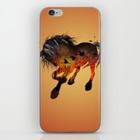 horse iPhone & iPod Skins featuring Horse by nicky2342