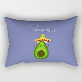 Holy Guacamole, avocado with sombrero Rectangular Pillow