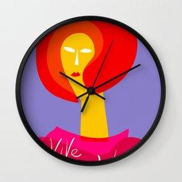 Vive la Mode Minimal French Art Illustration Wall Clock