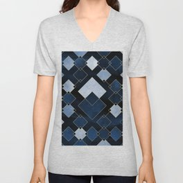 Blue Nebula Unisex V-Neck