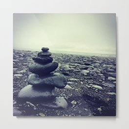 Cairns in Iceland Metal Print