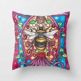 Bee Royalty Throw Pillow