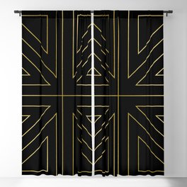Angled 2 Black & Gold Blackout Curtain
