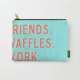 PARKS AND REC FRIENDS WAFFLES WORK Carry-All Pouch