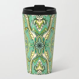 Green Boho Pattern Travel Mug