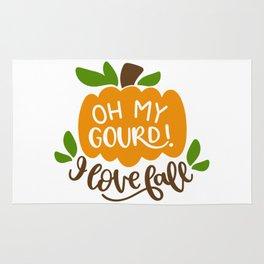 Oh my gourd I love fall shirt tshirt Rug