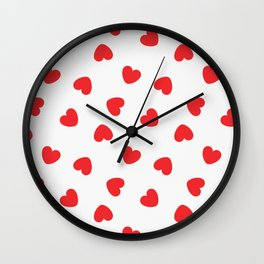 Playing cards hearts suit Wall Clock