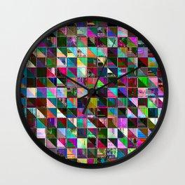 glitch color pattern Wall Clock