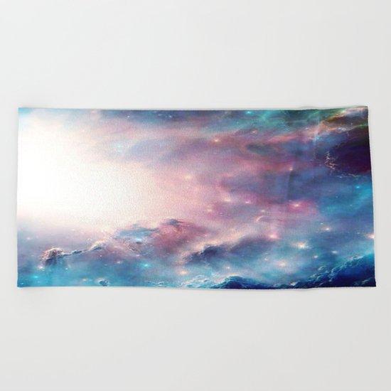 Galactic storm Beach Towel