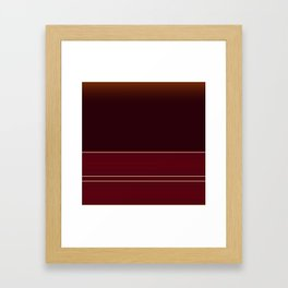 Rich Burgundy Ombre with Gold Stripes Framed Art Print