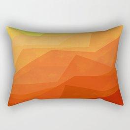 Stratum 3 Orange Rectangular Pillow