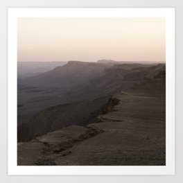 Edge of Ramon Crater Art Print