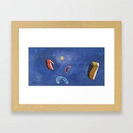 Kite Surfing III Framed Art Print
