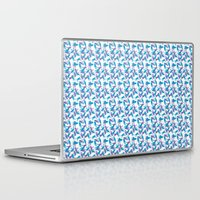 mad men Laptop & iPad Skins featuring Mad Men Cat Shadows by Lizz Lunney