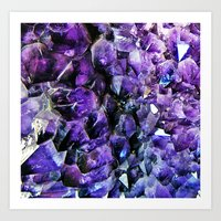 geode Art Prints featuring Amethyst Geode by The Wellington Boot