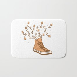 Converse All Star and Flowers Bath Mat