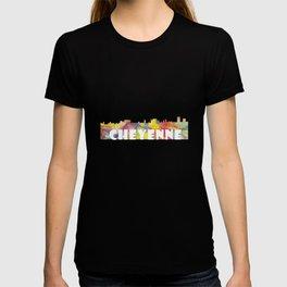 Cheyenne Wyoming Skyline MCLR 2 T-shirt