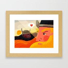 gay vikings Framed Art Print