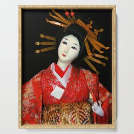 Oiran in Red Serving Tray