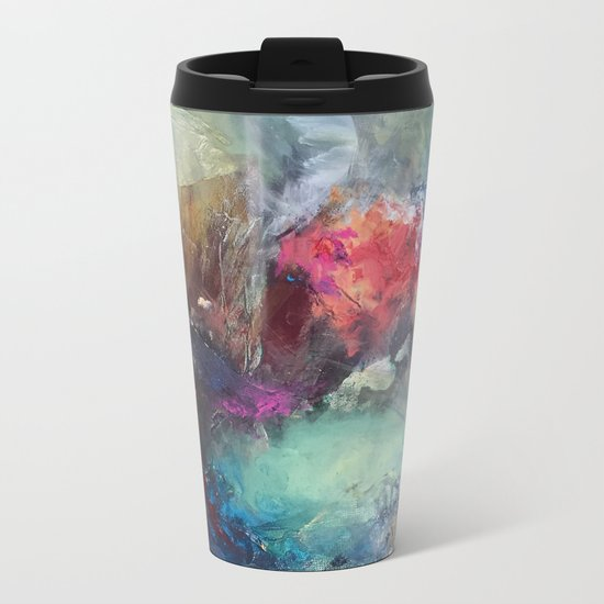 Strength and Happiness  Metal Travel Mug