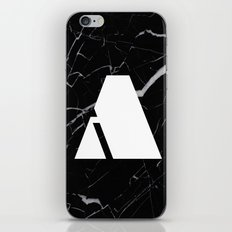 Black Marble - Alphabet A iPhone & iPod Skin
