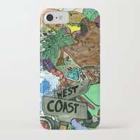 west coast iPhone & iPod Cases featuring west coast. by Late Bloomer
