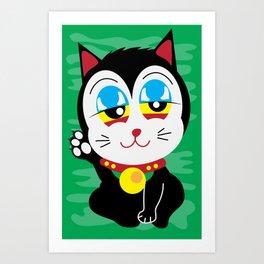 420 Maneki Neko  Art Print