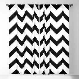 Simple Black and white Chevron pattern Blackout Curtain