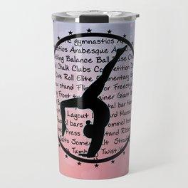 Circle Gymnastics pastel hearts Travel Mug