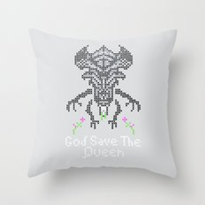 Xenobroidery Throw Pillow