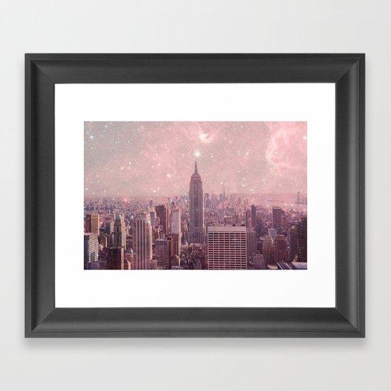 Stardust Covering New York Framed Art Print