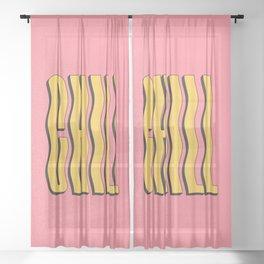 Chill: Wavy Summer Edition Sheer Curtain
