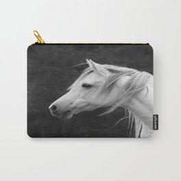 Arabian horse in black and white Carry-All Pouch
