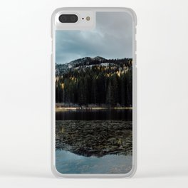 American Mountains and The Lake Clear iPhone Case
