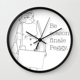 Be Season Finale Peggy Wall Clock