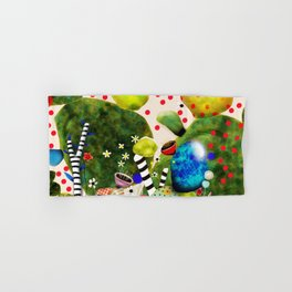 That´s how its got to be - Rupydetequila 2018 - Cactus nopal green and red polka dots Hand & Bath Towel