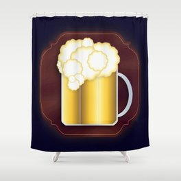 Mug of Beer, I Mean Cheer Shower Curtain