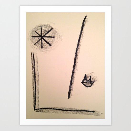 Boca e Estrela Art Print