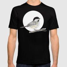 La Mésange à tête noire (Poecile atricapillus) Black-capped chickadee MEDIUM Mens Fitted Tee Black