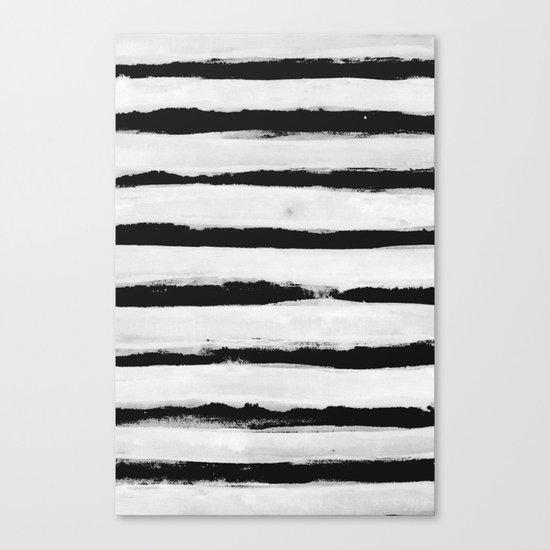 BW Stripes Canvas Print