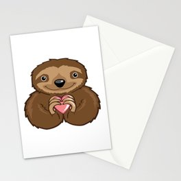 Sloth Love Stationery Cards