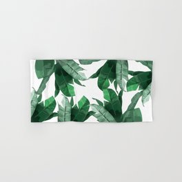 Tropical Palm Print Hand & Bath Towel