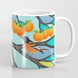 B. orioles in the stained glass tree Coffee Mug