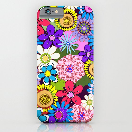 Cute Colourful Flowers iPhone & iPod Case