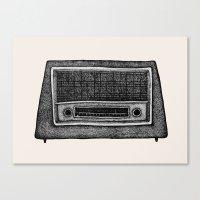 radio Canvas Prints featuring Radio by Debbie Fong