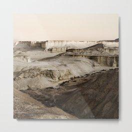 Massada Sandstone Terraces Metal Print