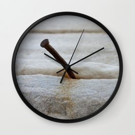 rusty nail Wall Clock
