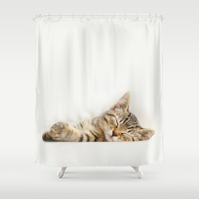 The Happy Kitten Shower Curtain